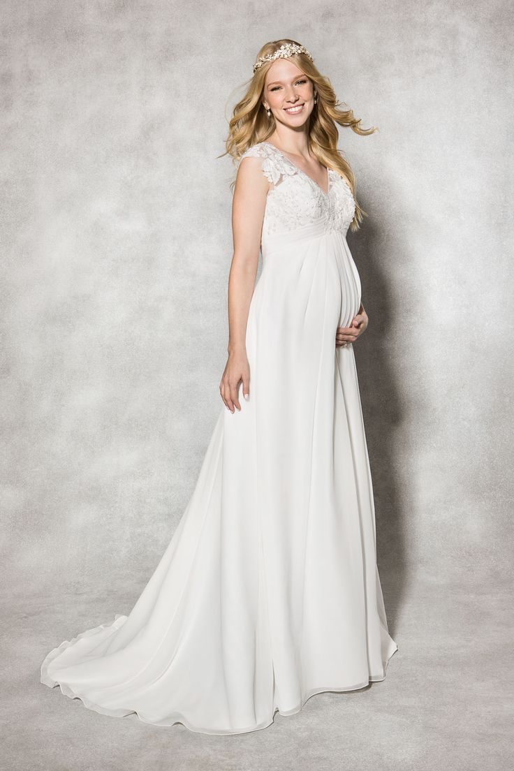 The sensations 'Alanis' Maternity Wedding dress by Heidi Hudson