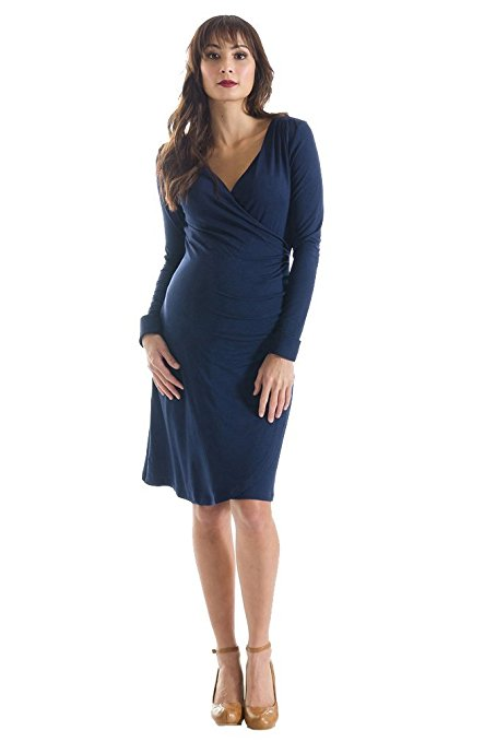Lilac Brynley Maternity Faux Wrap Dress For Pregnant Mom