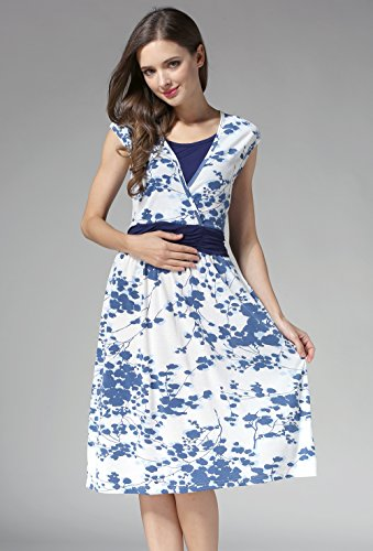bd8b0846410e8 Emotion Moms Flower Maternity Clothes Breastfeeding Nursing Dresses for  Pregnant Women