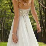 H.S.D Women's Sweetheart Beads Empire Chiffon Wedding Dress Bridal Gown