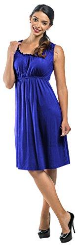 Maternity & Nursing Dress Elastic Neck Empire Waist – Sleeveless