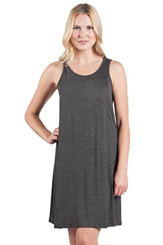 Savi Mom Nursing Nightgown/Dress USA Made Breastfeeding Soft Sleeve-Less Tank