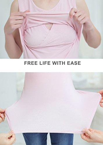 3996d05ed30 Smallshow Women's Modal Sleeveless Maternity Nursing Tank Tops ...