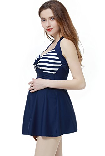 9f7048d977 Momo Maternity UPF 50+ One Piece Halter Swimdress - Maternity ...